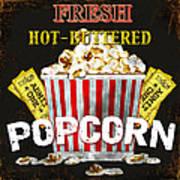 Popcorn Please Art Print