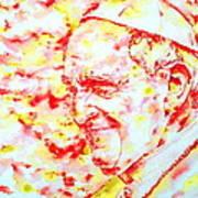 Pope Francis Profile -watercolor Portrait Art Print