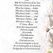 Pope Francis St. Francis Simple Prayer Daisies Print by Desiderata Gallery