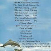 Pope Francis St. Francis Simple Prayer Dolphins Tking A Leap Of Faith Print by Desiderata Gallery