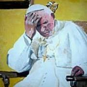 Pope Praying Art Print