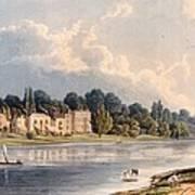 Popes Villa At Twickenham, 1828 Art Print