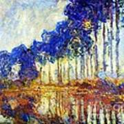 Poplars On River Epte Art Print