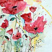 Poppies 05 Art Print by Ismeta Gruenwald