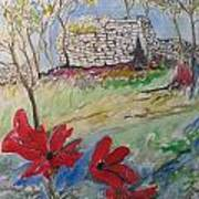 Poppies And Ruins Art Print