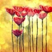 Poppies at daylight Art Print
