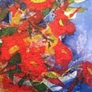 Poppies Gone Wild Art Print by Sherry Harradence