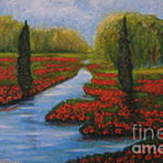 Poppies Guards Art Print by Elena  Constantinescu