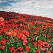 Poppies Impression Art Print