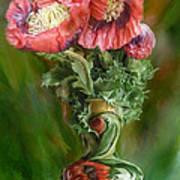 Poppies In A Poppy Vase Art Print