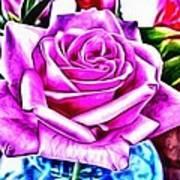 Poppin Purple Rose Art Print