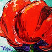 Poppy 3 Art Print by Vickie Warner
