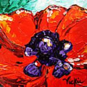 Poppy 4 Art Print by Vickie Warner