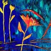 Poppy At Night Abstract 2 Art Print