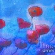 Poppy Blues Art Print