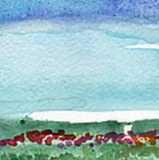 Poppy Field- Landscape Painting Art Print