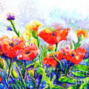 Poppy Fields Art Print