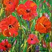 Poppy Frenzy Art Print by Barbara Pirkle