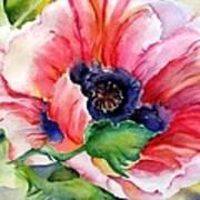 Poppy In The Pink Art Print