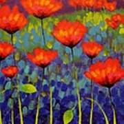 Poppy Meadow   Cropped 2 Art Print