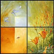 Poppy Pollination Art Print
