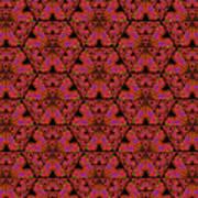 Poppy Sierpinski Triangle Fractal Art Print