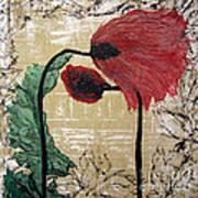 Poppys Entwined Art Print