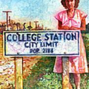 Population 2184 Art Print
