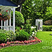 Porch And Garden Print by Elena Elisseeva