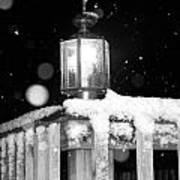 Porch Light Bw Art Print