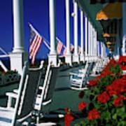 Porch Of The Grand Hotel, Mackinac Art Print