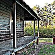 Porch Side Of Old House Art Print