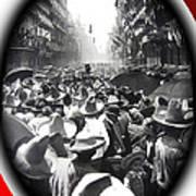 Porfirio Diaz Celebrating Republican President Benito Juarez July 1910 April 25 1911   Art Print