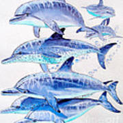 Porpoise Play Art Print by Carey Chen