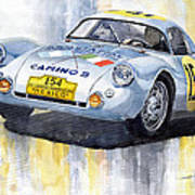 Porsche 550 Coupe 154 Carrera Panamericana 1953 Art Print by Yuriy  Shevchuk