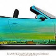 Porsche 911 Sunset Over Sweden  Art Print