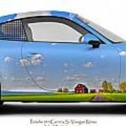 Porsche 911 Visingsoe Roenaes Art Print
