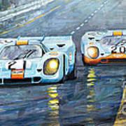Porsche 917 K GULF Spa Francorchamps 1971 Art Print