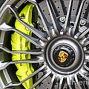 Porsche 918 Wheel Art Print