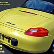 Porsche Boxster Posterior Art Print