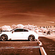 Porsche Car Side Profile Brown Near Infrared  Art Print