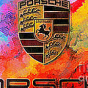 Porsche In Abstract Art Print