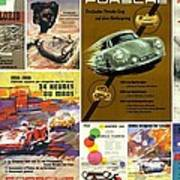 Porsche Racing Posters Collage Print by Don Struke