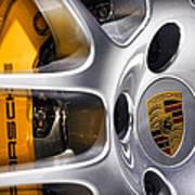 Porsche Wheel Art Print