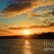 Port Angeles Sunburst Art Print