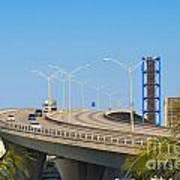 Port Boulevard Bridge Miami Art Print