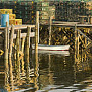 Port Clyde Maine Small Boat And Harbor Art Print