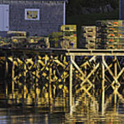 Port Clyde Pier On The Coast Of Maine Art Print