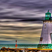 Port Dalhousie Lighthouse Print by Jerry Fornarotto