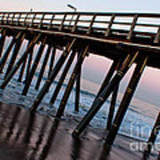 Port Hueneme Pier Askew Art Print